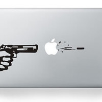 """For Macbook pro 13""""  Personality GUN Pattern Sticker for macbook Air Pro Retina 13 15 inch Laptop decal vinyl Skin cover"""