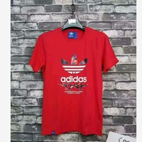 Adidas TEE SHTRT PRINT MAN SHORT SLEEVE TOP (4 color) RED