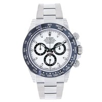 Rolex Daytona 40mm Stainless Steel & Ceramic White Dial Watch 116500LN