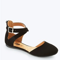 Criss Cross Ankle Strap Flat