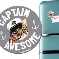 CAPTAIN AWESOME MAGNET