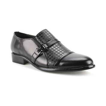 Men's W2015-8 Checkered Round Toe Dress Shoes