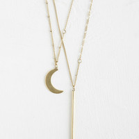 Cosmic Wane or Shine Necklace by ModCloth