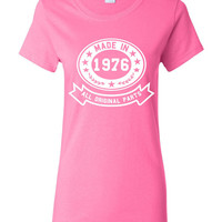 Made In 1976 With All Original Parts Great 38Th Birthday Celebration T Shirt Great Gift For 38TH Birthday Made In 1976