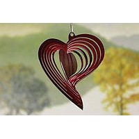 """3"""" Red Heart Wind Spinner"""