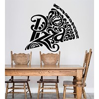 Vinyl Wall Decal Pizza Pizzeria Logo Signboard Fast Food Restaurant Stickers Unique Gift (2036ig)