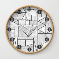 Kaku Stone Wall Clock by Fimbis