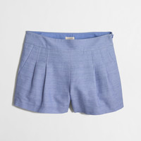 """Factory pleated short : 3"""" 