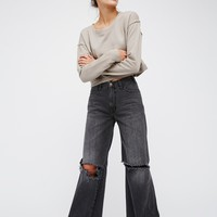 Free People Relaxed Wide Leg Jean