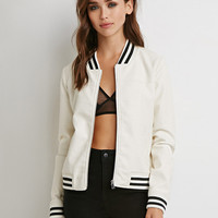 White Stripe Detail Jacket