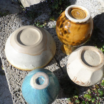 Vintage Chinese ceramics - oriental pottery mixed lot of Japanese Chinese ceramics - vintage bowl vase Chinese vintage song style