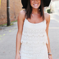 Ready, Set, Lace Romper {Ivory}