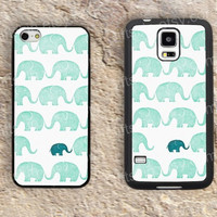 Elephant Cartoon Elephant iphone 4 4s iphone  5 5s iphone 5c case samsung galaxy s3 s4 case s5 galaxy note2 note3 case cover skin 183