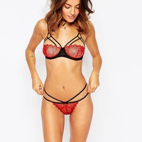 ASOS Miri Corded Lace Strappy Thong