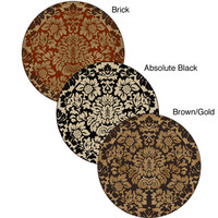Amalfi Paradise Area Rug (5'3 Round)   Overstock.com Shopping - The Best Deals on Round/Oval/Square