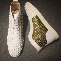 PEAPNW6 Cl Christian Louboutin Louis Spikes Style #1834 Sneakers Fashion Shoes