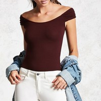 Ribbed Bardot Top