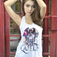 Queen Graphic Printed Loose Tank