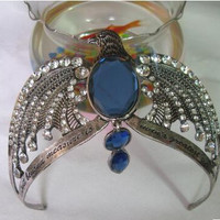 Hot Classic Movies Harry Potter Horcrux Ravenclaw Magic School Noble Vintage Crown Rhinestone Eagle Jewelry Tiaras