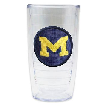 University of Michigan Needlepoint Tumbler by Smathers & Branson