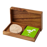 Egg Tangram Set | Puzzle, Brainteaser, Monkey Pod Wood, UncommonGoods.
