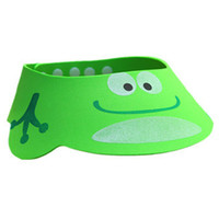 The Creative Cartoon Children's Bath Cap / Shower Hat Can be Adjusted Frog