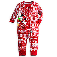 Mickey Mouse Holiday Stretchie Sleeper for Baby