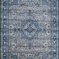 3045 Gray-Blue Colorful Isfahan Oriental Area Rugs