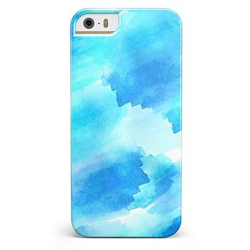 Abstract Blue Stroked Watercolour iPhone 5/5s or SE INK-Fuzed Case