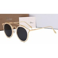 Dior Personality Women Casual Sun Shades Eyeglasses Glasses Sunglasses Black G