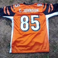 NFL-Reebok - Cincinnati Bengals C.Johnson 85 - Throwback Jersey-Mens Medium
