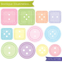 Pastel Buttons Clipart. Cute Button Clip Art in a range of Pastel Shades. Jpeg, Pngs and Eps Vector Foramts Included. Commercial Use*