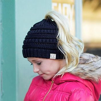 'Campfire Tales' Mommy and Me CC Ponytail Beanie for Kids
