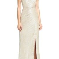 Laundry by Shelli Segal Metallic Gown   Nordstrom