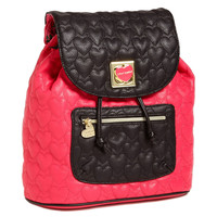 Betsey Johnson Will You Be Mine Backpack-Pink - Default