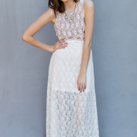 Lace Bridal Dress in White
