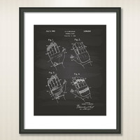 Foolball Glove 1963 Patent Art Illustration - Drawing - Printable INSTANT DOWNLOAD - Get 5 Colors Background
