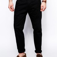 Black Chocoolate Chinos In Regular Fit