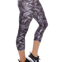Womens Battle Ropes Performance Capri Leggings