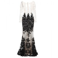 zuhair murad - sequin silk chiffon dress