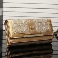 COACH Women Fashion Leather Shopping Wallet Purse