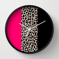 Leopard National Flag IV Wall Clock by M Studio