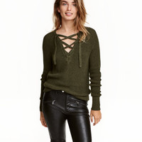 H&M Sweater with Lacing $24.99
