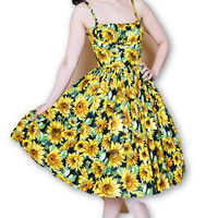 Paris Dress in Sunflower Print XS (ONLY 2 LEFT!)