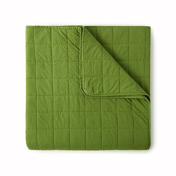 4 Square Olive Coverlet by Peacock Alley