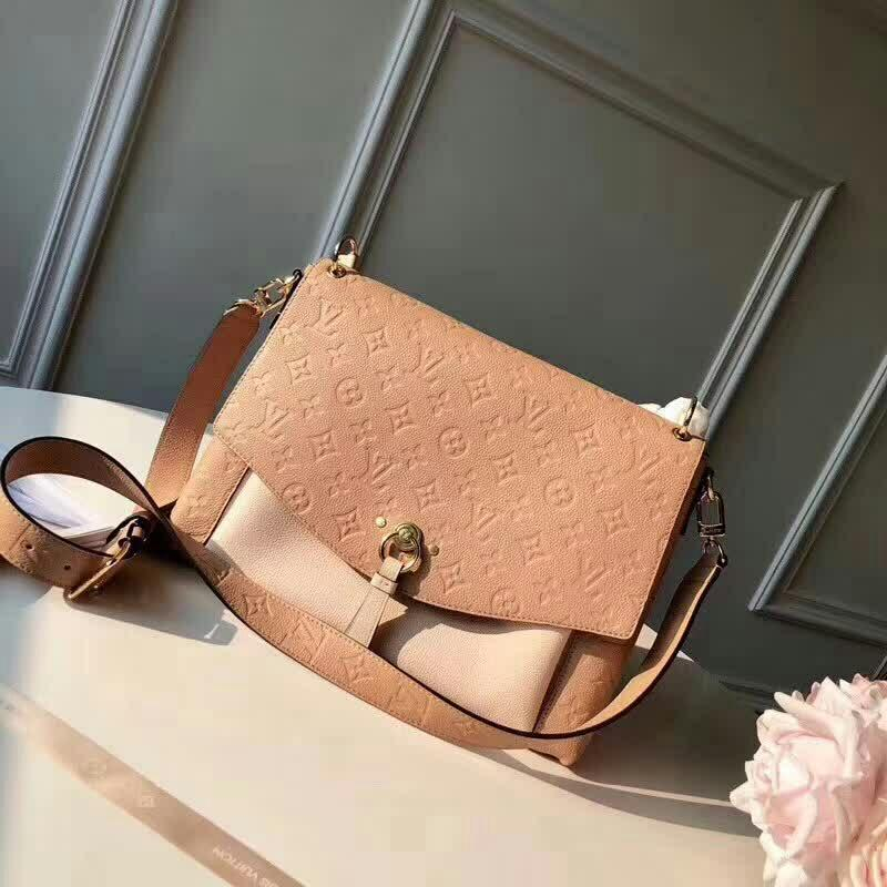 Image of LV Louis Vuitton MONOGRAM LEATHER BLANCHE INCLINED SHOULDER BAG