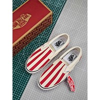 Vans Slip On Stripes With Red And White