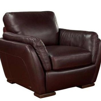 Anapo Leather Arm Chair by Natuzzi Editions