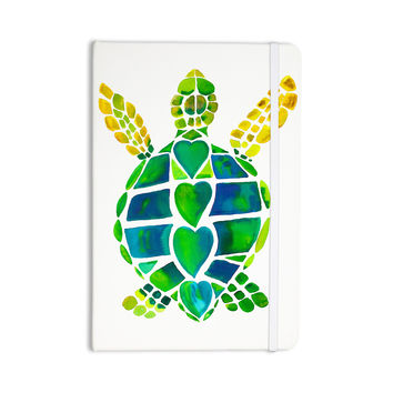 """Catherine Holcombe """"Turtle Love"""" Green Teal Everything Notebook"""