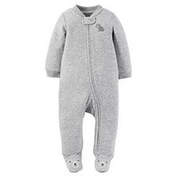 Just One You™Made by Carter's® Newborn Boys' Footed Sleeper – Grey
